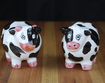 Chubby Cow Salt and Pepper Shakers