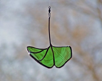 Wine Bottle Ginkgo Leaf