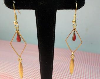 Golden Gold Diamond drop earring