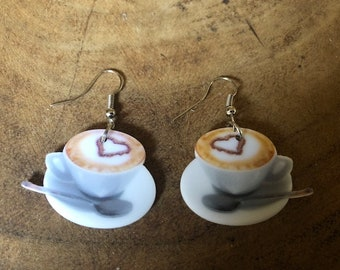 Coffee cup earrings:)