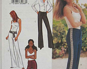 Misses' Pants with Mock Fly Zipper, Butterick 3529 Sewing Pattern Size 12, 14