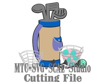 Bundle of Golf Cutting Icons  MTC SVG Cut File