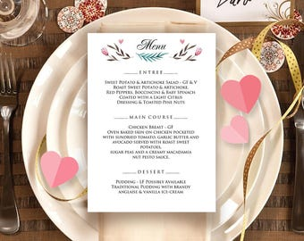 Valentine's day menu, Menu template, Printable dinner menu, Bar menu, Menu design, Menu sign, Menu template, Dinner menu, Restaurant menu