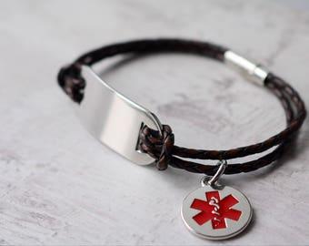 Mediacl ID Bracelet - Medical Bracelet - Emergency Bracelet - Personalised Bracelet