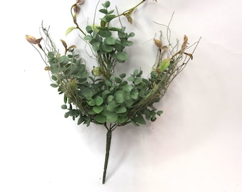 Artificial Eucalyptus Bush|Artificial Flower|Artificial Leaves|Silk Flowers|Flux Flowers|Artificial Floral Bunch