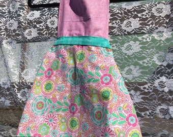 Pink and Turquoise Apron