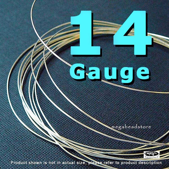 3 feet 14 Gauge Sterling Silver Wire Round Half Hard