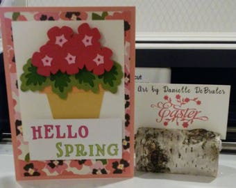 Hello Spring Flower Pot Card