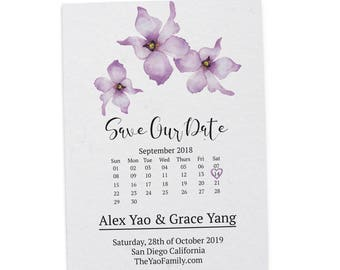 Simple Save the Date Printable, Save the Date Cards, Personalized Save the Date Cards #22