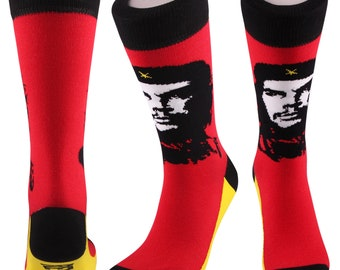 Samson® Revolution Socks Fashion Mid Calf Novelty Dress Funny Cotton Che Guevara