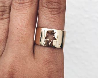 Étoile - Star ring - Gold ring - Dainty ring - Dainty jewelry - Minimal jewelry - Minimal ring - Creu Handmade