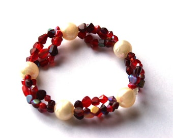 Cherry Cream Stretchy Bracelet