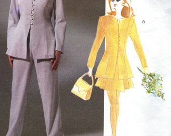 Vogue Attitudes Sewing Pattern 2845- Carmelo Pomodoro Misses' Jacket, Skirt & Pants  size 8-10-12 uncut