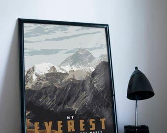 Mt Everest Poster 11x17 18x24