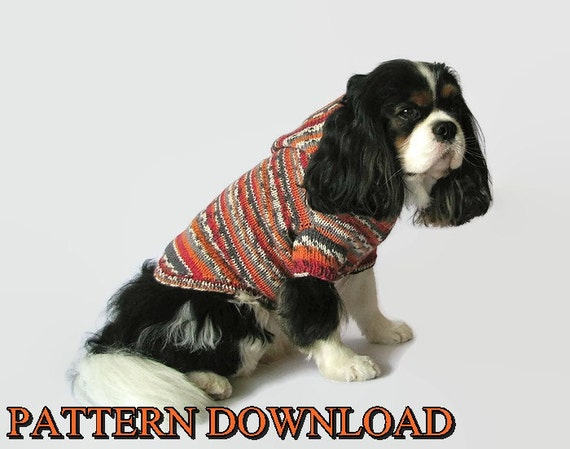 Dog hoodie pattern Dog sweater pattern Dog hoodie Dog sweater Knit ...