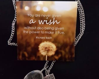 Dandelion Wish Necklace