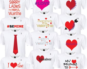 Valentine's Day * Digital Iron-On Image for shirt* PERSONALIZABLE * DIY PRINTABLE
