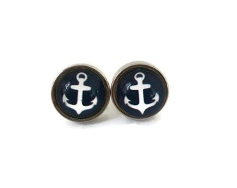 Small earring studs 8mm - stainless steel Studs - hypoallergenic-