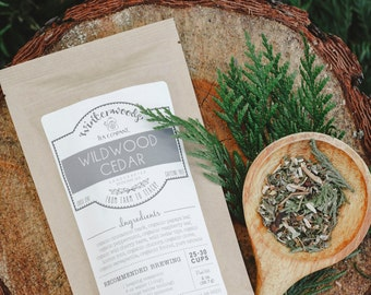 Wildwood Cedar Tea | ORGANIC  | PNW Gift Herbal | Winterwoods Tea Company Loose Leaf Blend