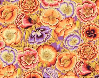 1/2 yard Poppy Garden in Orange fabric designed by Philip Jacobs PJ095 Spring 2018