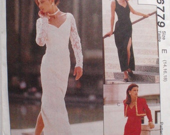 Sew News Sewing Pattern - Lined Bolero and Fitted Dress In Two Lengths - McCall's 6779 - Sizes 14-16, Bust 36 - 38
