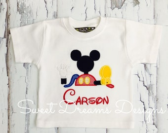 """Boys """" OH TOODLES"""" Mickey mouse clubhouse OOAK shirt! Comes in long or short sleeves"""