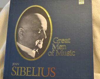 Jean Sibelius - Time Life Great Men of Music Boxed Vinyl Set of Classical Music