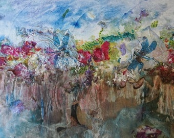 Abstract painting canvas 72 flowers abstract flowers painting canvas