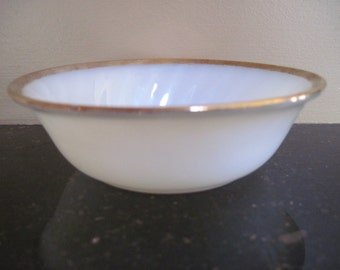 Fire King Dessert Bowl-Golden Anniversary Swirl - Item #1254