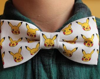 Cool Pokemon Pikachu Bowtie - Cute, Fun, White, Yellow, Nintendo