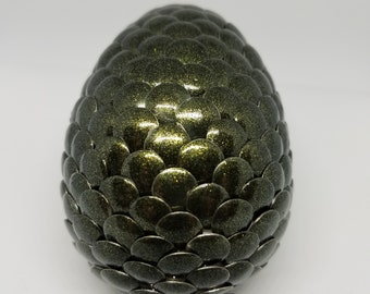 Small Forest Green Dragon Egg.