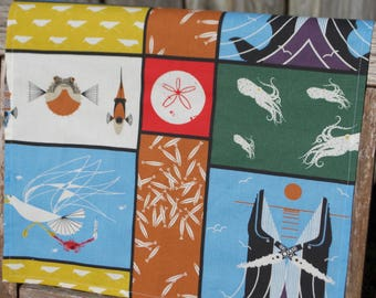 Organic Charley Harper Maritime Panel Cloth Napkins - Set of 4