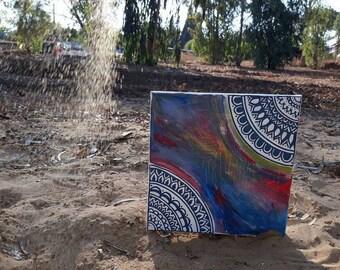 Mandala painting handmade