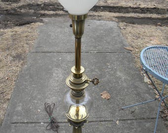 Stiffel shade etsy gorgeous big heavy ornate crystal glass and brass stiffel lamp and original diffuser stiffel shade aloadofball Gallery
