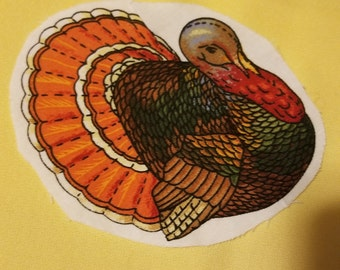 Stuffed Turkey Panel by Patt Reed Designs
