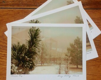 Frozen Fog, Photo Art Card