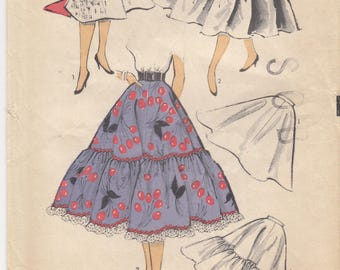 Advance 6468 Flared Circle Skirt or Petticoat ca 1954 Sewing Pattern Unused