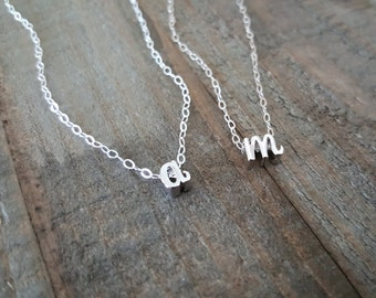Initial Necklace, Sterling Silver Necklace, Monogram Necklace, Letter Jewelry