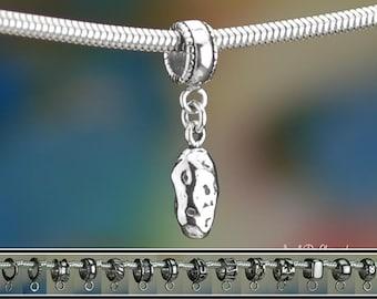 Sterling Silver Potato Charm or European Style Charm Bracelet .925