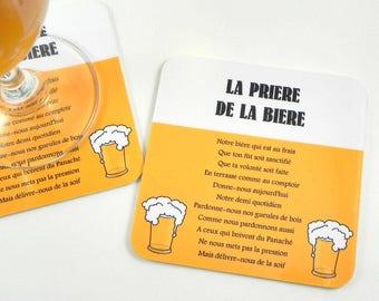 Beer mat coaster original beer gift Magnet beer drink coasters prayer beer fridge magnet