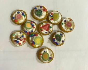 Miniature Round Assorted Fruit Tarts