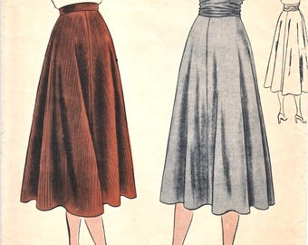 1940's Vogue 6160 Woman's Skirt and Cummerbund Sewing Pattern Size 28 Waist Vintage 1940's