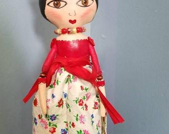 Ooak Frida Doll