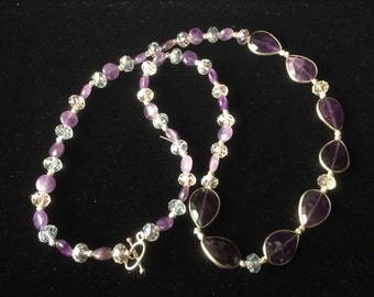 Fantastic Amethyst necklace, February's Birthstone ,you need one if your  birthday is in February
