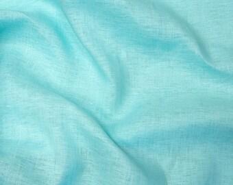 Linen Fabric Turquoise 1 meter