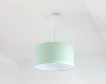 Kronleuchter Abgehängte Decke Licht Grün Pastell Skandinavisch    Zylindrischer Lampenschirm   Runde   Zylinder + Elektrokabel