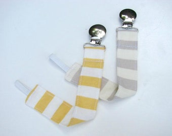 Universal Pacifier Clip for Baby Pacifier/Binky/Soothie Stripes