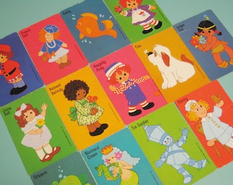 Vintage Hallmark Raggedy Ann Characters Cards - Set of 13