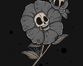 Happy skull flower