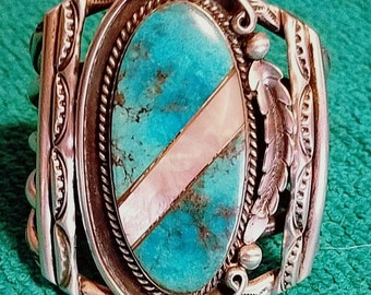 Bracelet Turquoise and Mother of Pearl